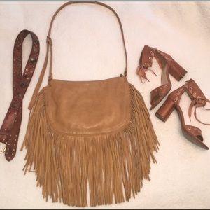 Carlos Santana fringed purse bag